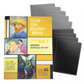 Child-Size Masterpieces ~ Modern School of Art with Folders