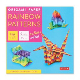 Rainbow Patterns Origami Paper