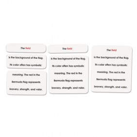 Parts of a Flag Photo Definition Cards
