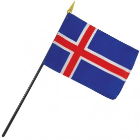 Iceland Nation Flag