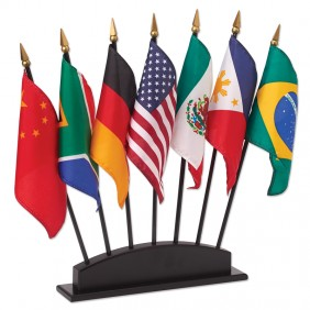 7-Hole Hardwood Flag Stand