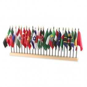 24-Hole Hardwood Flag Stand