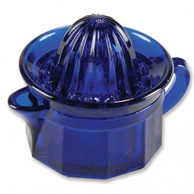 Small Glass Juicer - Cobalt Blue