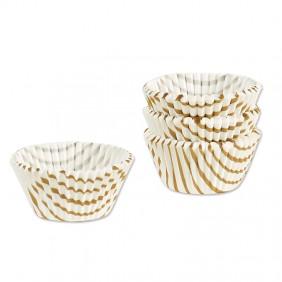 Gold Swirl Mini Muffin Papers