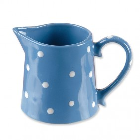 Blue Polka-Dot Pitcher