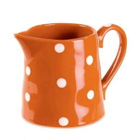 Orange Polka-Dot Pitcher