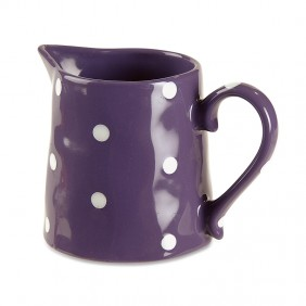 Purple Polka-Dot Pitcher