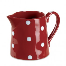 Red Polka-Dot Pitcher