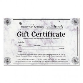 order gift certificates online montessori services