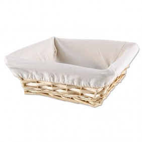 Square Woven Basket with Liner
