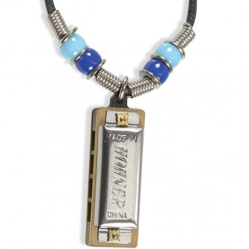Genuine Hohner Mini-Harmonica Necklace