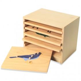 Five Slot Puzzle Cabinet