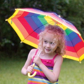 Child-Size Rainbow Umbrella