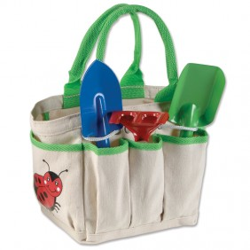 Gardening tote tools montessori services for Small garden tool carrier