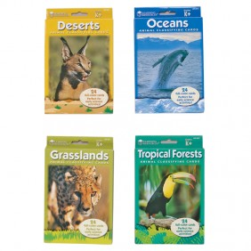 All 4 Animals by Habitat Card Sets