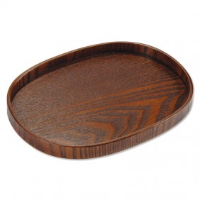 Elliptical Wooden Tray