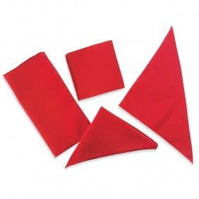 Folding cloths with stitched folding pattern