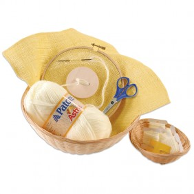 Sewing Kit with Wooden Button