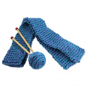 Quick-to-Knit Wool Scarf Kit