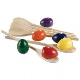 Rainbow Eggs & Spoons Set
