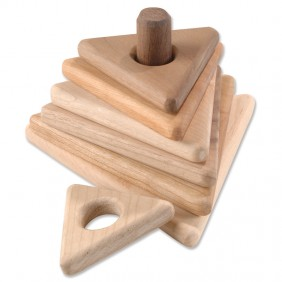 Wooden Triangle Stacker