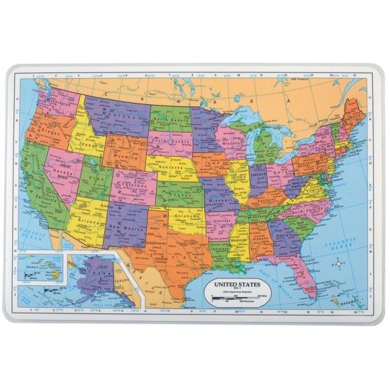 United States Placemat Montessori Services - Physical maps of united states