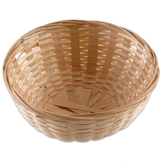Small Round Bamboo Basket Montessori Services