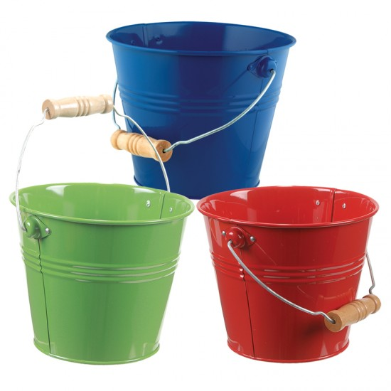 small metal pail montessori services
