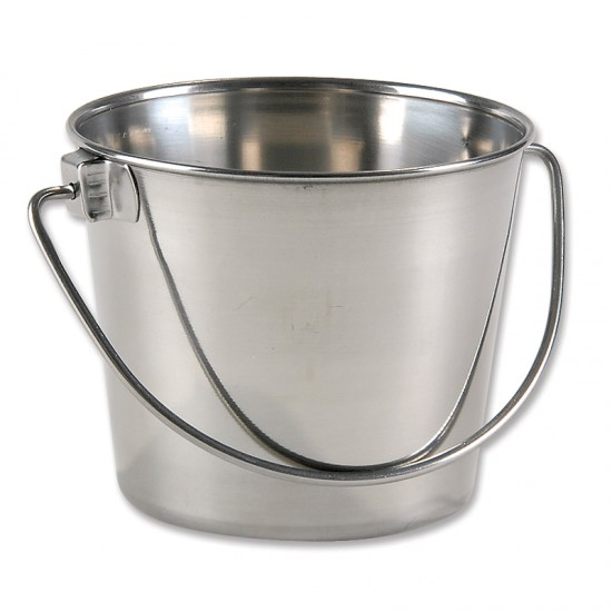 one quart small stainless steel pail   montessori services