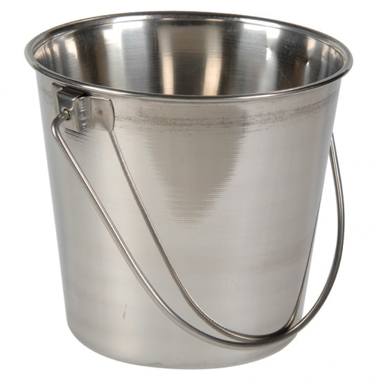 Two quart small stainless steel pail montessori services for Tiny metal buckets