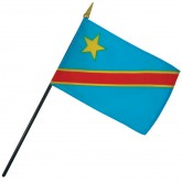 Democratic Republic of Congo Nation Flag