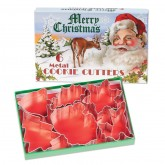 Merry Christmas Metal Cookie Cutters