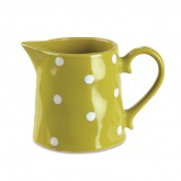 Lime Polka-Dot Pitcher