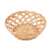 Open Weave Round Willow Basket