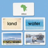 Primary World Land & Water Cards