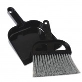 Black Whisk Broom & Dustpan