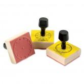 Clock Rubber Stamp Set