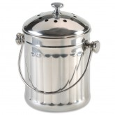 Stainless Steel Compost Pail & Replacement Filters