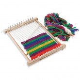 Peg Loom with Wool Yarn