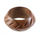 Carved Wooden Napkin Ring