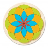 Flower Wooden Mosaic Puzzle