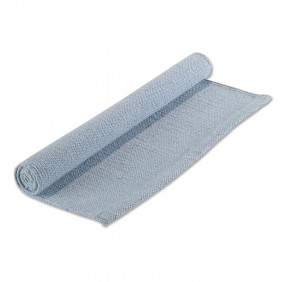 Small Hemmed Work Rug in Blue (Photo from Montessori Services)