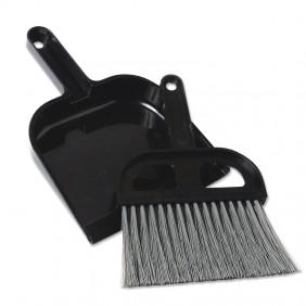 Black Whisk Broom & Dustpan