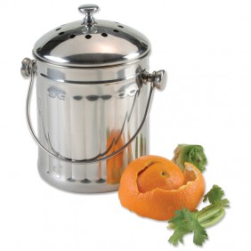 Stainless Compost Pail - 1/2  Gallon