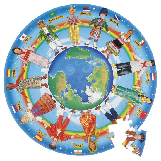 Children Around The World Floor Puzzle For Small Hands