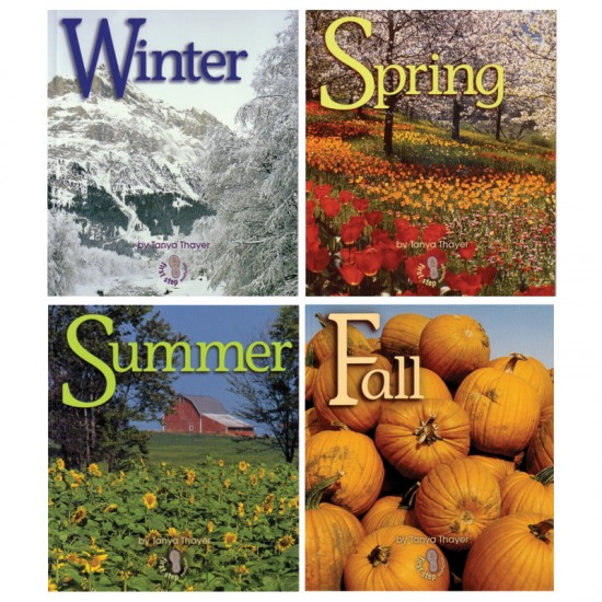 four seasons book set for small hands