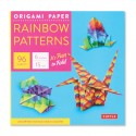 Rainbow Patterns Origami Paper