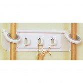 2-Ring Mop & Broom Organizer with Hooks