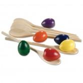 Rainbow Eggs & Spoons Set