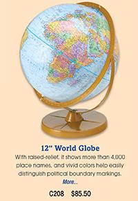 "C208 12"" World Globe"